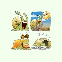 Snail Emoji Stickers