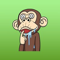 Animated Crazy Peppin Monkey Stickers