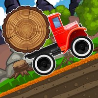 Monster Climb truck - Wood Transport Racing Game