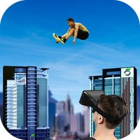 Roof Runner Jump - VR Google Cardboard
