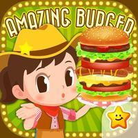 Let's do pretend!! Hamburger shop! - Work Experience-Based Brain Training App