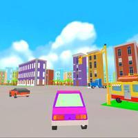 Cute Car Rider 3D : Small City