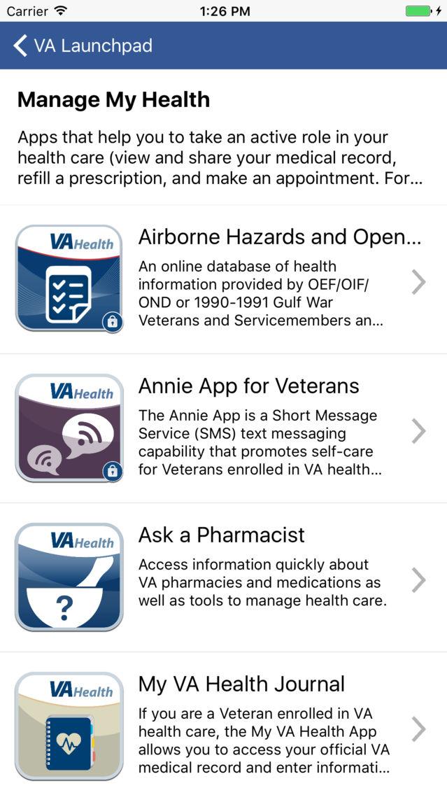 VA Veteran Launchpad App for iPhone - Free Download VA Veteran