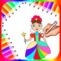 Princess Colour Drawing Book