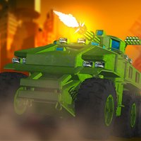 Army Tank Frontline Militia Battle: Metal Arms Trooper Conflict