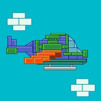 Block Helicopter Rescue - Helicopter game for free