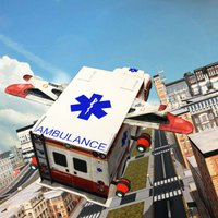 Flying Ambulance Driving 3d simulator