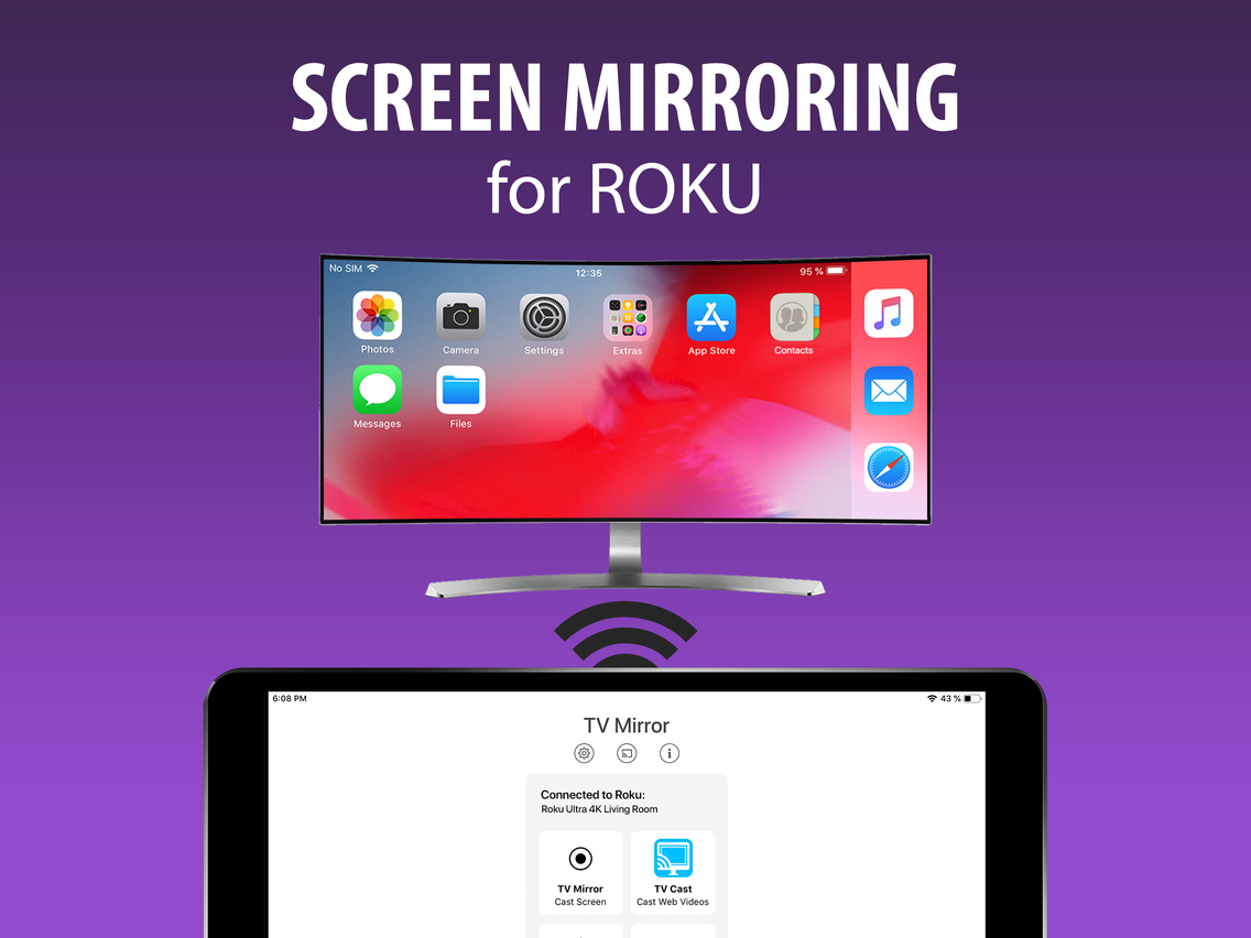 Screen Mirroring+ for Roku App for iPhone - Free Download Screen