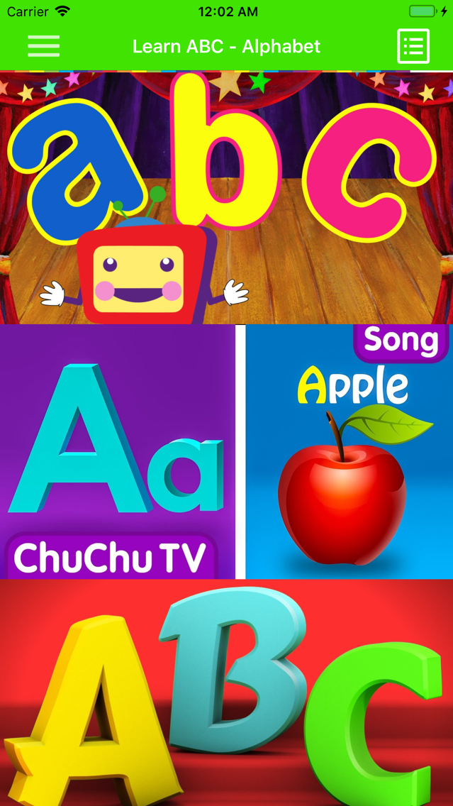 Learning ABC Alphabet App for iPhone - Free Download