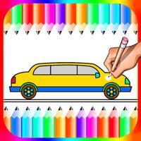 Car Colour Drawing Book