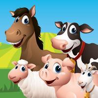 Farm Animal Match Up Game