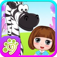Belle's playtime with baby zebra - kids game free
