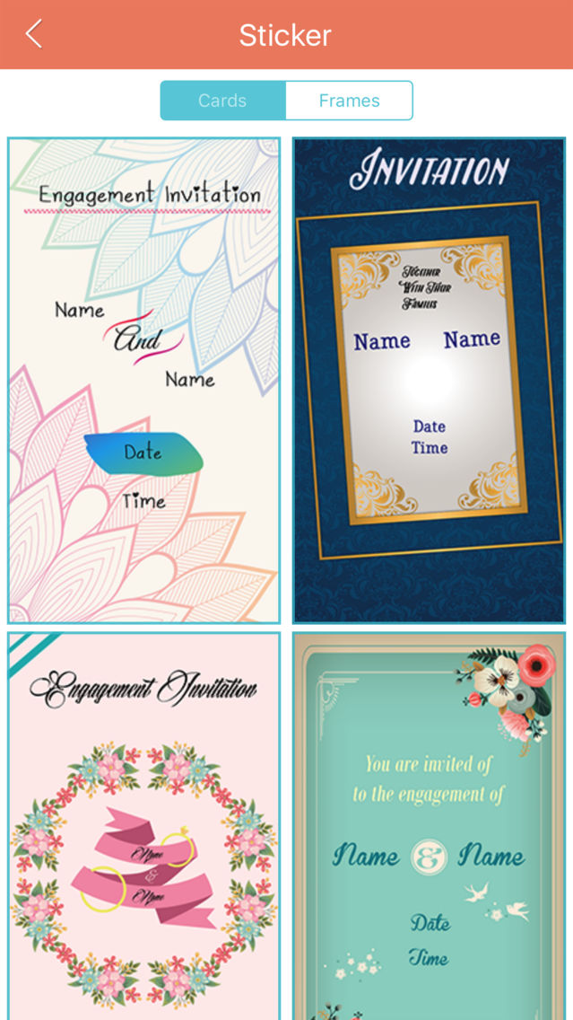 engagement invitation cards maker pro app for iphone