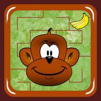 Monkey Jungle Maze (catch the banana)