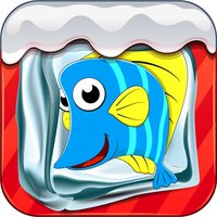 Break the ice fish Gamebox - Freeze box puzzle crate on ice world