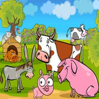 Farm Animal Shape Puzzle - Educational Learning Games For Kids In Preschool & Toddlers Free
