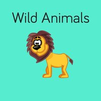 Wild Animals Flashcard for babies and preschool