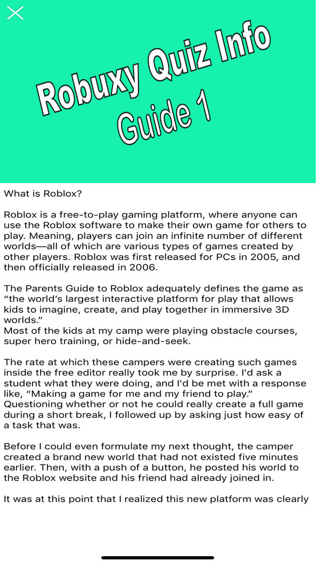 Robux Pro Info App for iPhone - Free Download Robux Pro Info