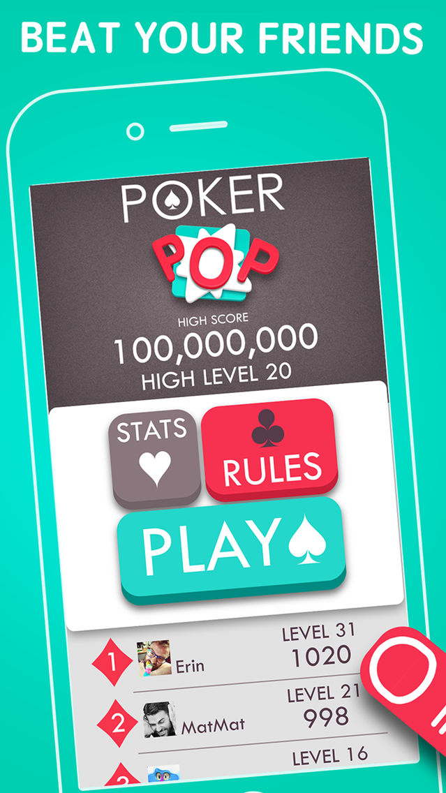 Poker POP! - Free Draw Poker Puzzle Card Game App for iPhone