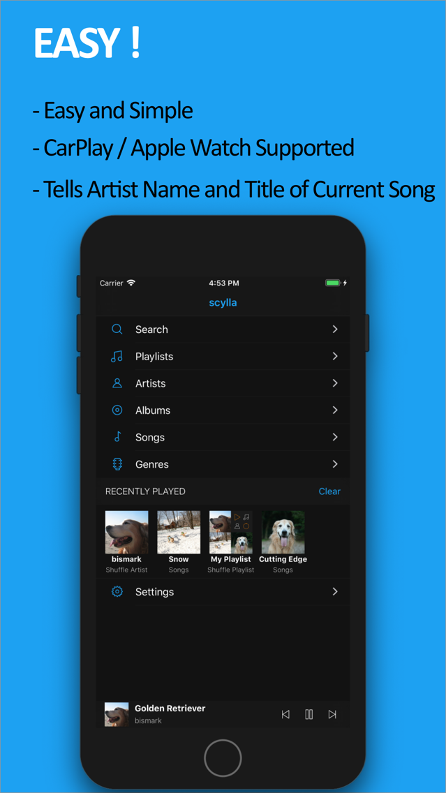 scylla - Hi-Res Music Player App for iPhone - Free Download