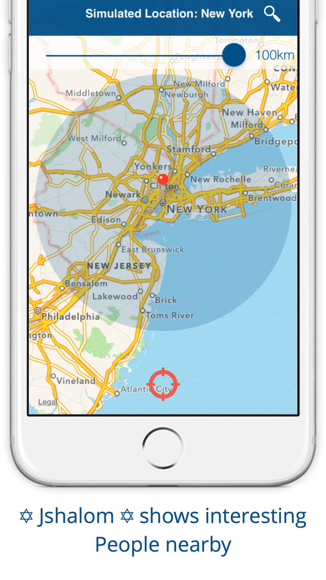 IPhone dating app GPS