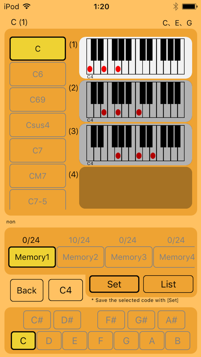 Piano Chord Scales for compose App for iPhone - Free Download Piano