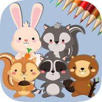 Cute Squirrel & Rabbit - Game coloring book for me