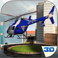 Police Helicopter Pilot Chase Cars 3D Game