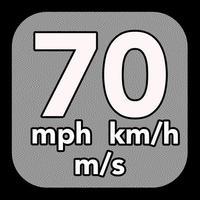Speedometer: speed detection in miles per hour, kilometers per hour and meters per second