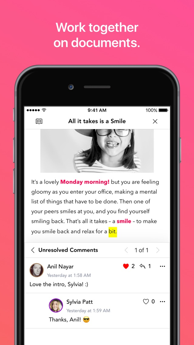 Writer - Create Docs, Sync App for iPhone - Free Download
