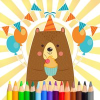 Bear Coloring and Painting Book