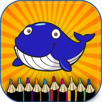 Sea animal children coloring book : Best 24 pages
