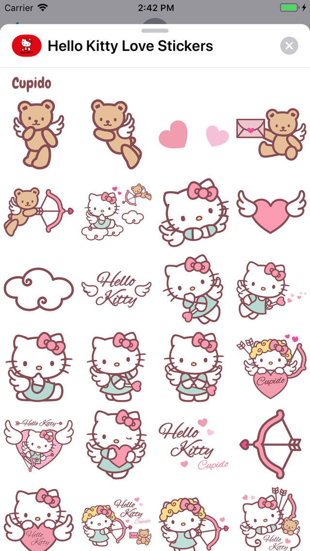 Hello Kitty Love Stickers App for iPhone - Free Download Hello Kitty