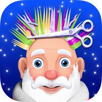 Santa Hair Style - Shave Beard & Barbershop Games