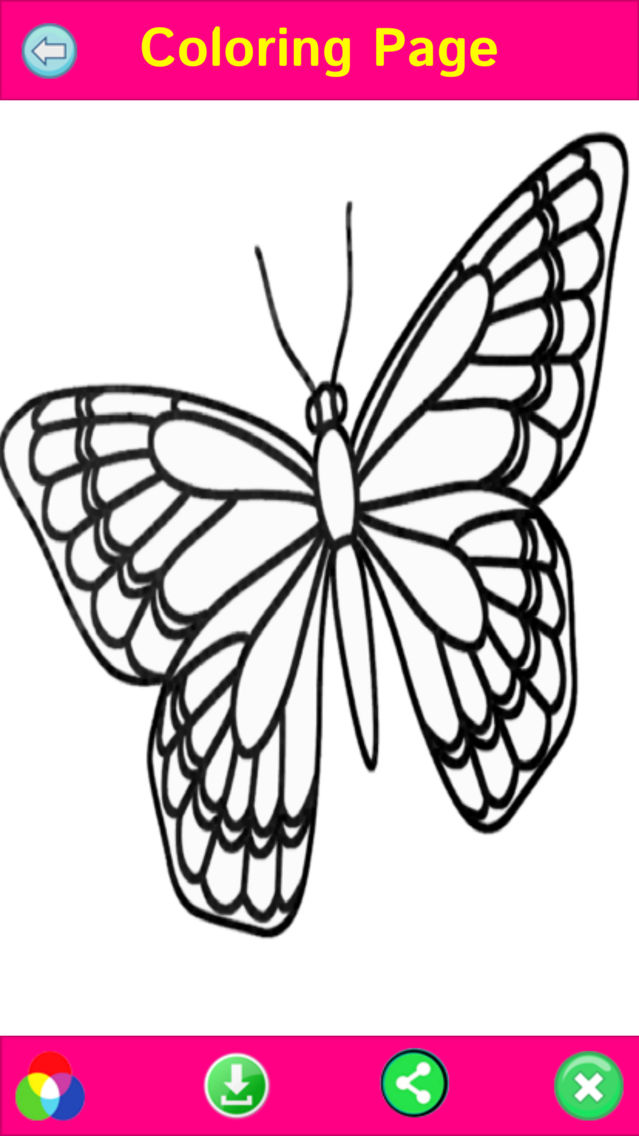 Butterfly Coloring Book Pages App for iPhone - Free ...