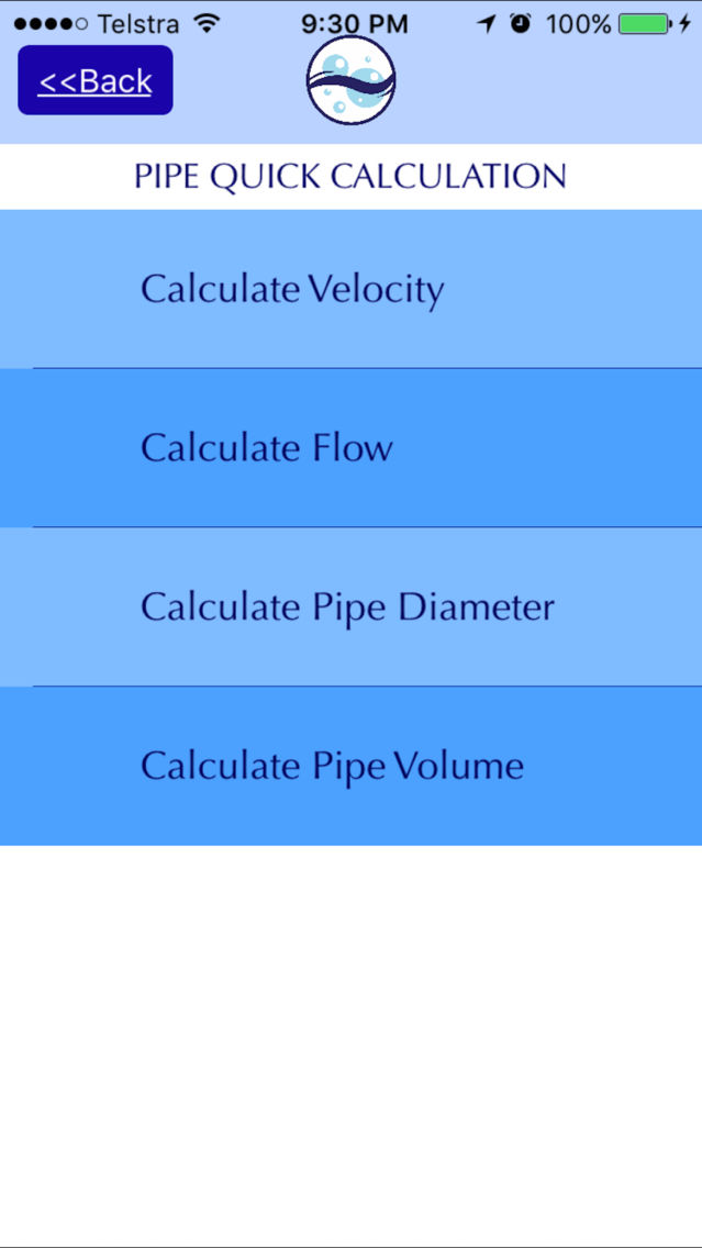 Quick Pipe Calculator by Water Toolbox App for iPhone - Free
