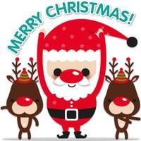 Santa & Friends! stickers for iMessage