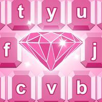 Diamond Keyboard Theme - Fancy Fonts Skins & Emoji