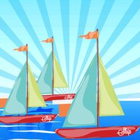 A Sort By Size Game for Children: Learn and Play with Sailing Boat