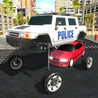Transit Elevated Police Car Traffic Rush Cop Chase