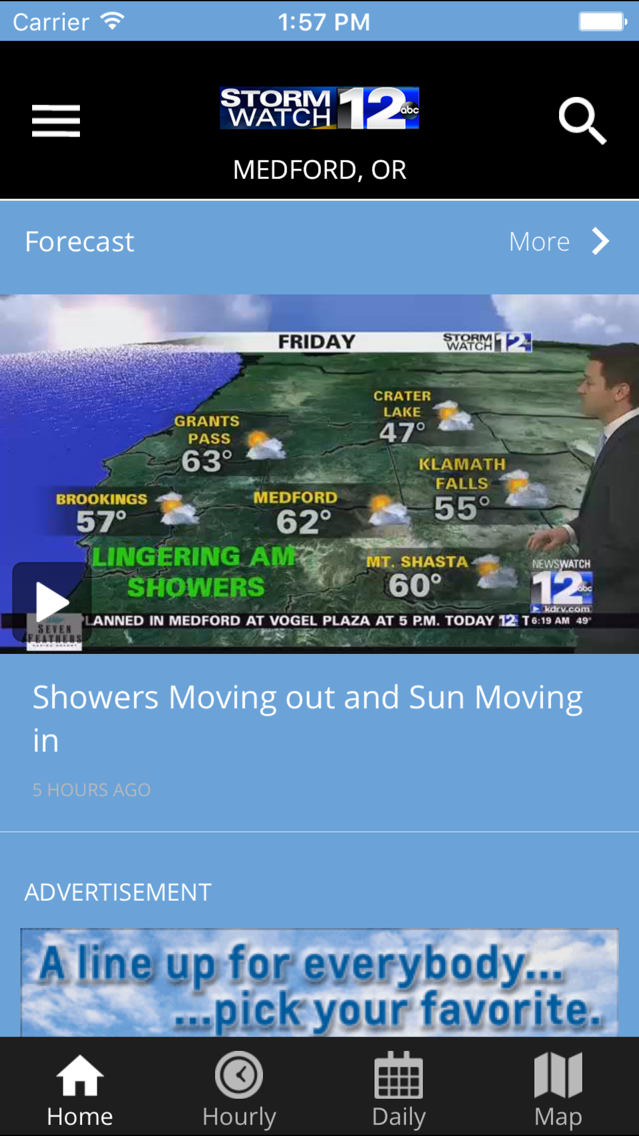 Stormwatch12 - KDRV Weather App for iPhone - Free Download