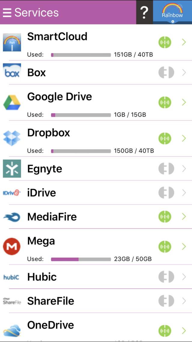 Rainbow-Best cloud storage app App for iPhone - Free