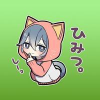 Kitt The Cutie Cat Girl Stickers