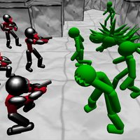Battle Sim: Stickman Zombie