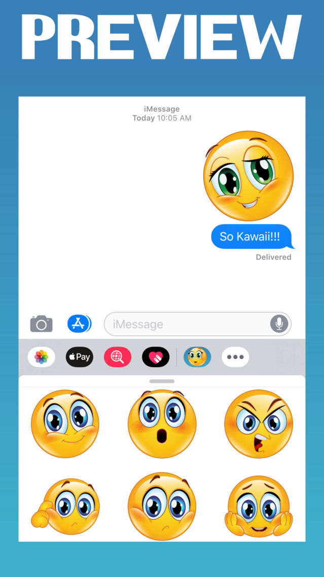 Anime Emojis App for iPhone - Free Download Anime Emojis for