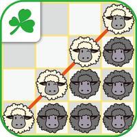 Four sheep in a row LovelySheep