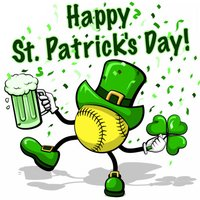 Softball St. Pat's Stickers