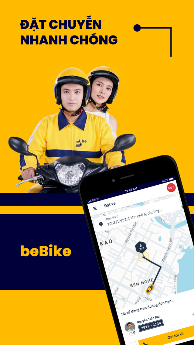 be - Vietnamese ride-hailing App for iPhone - Free Download be