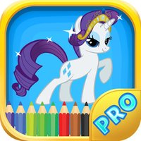 Pony Coloring Games for Girls - My Cute Pony Coloring Book for Little Kids and Toddler
