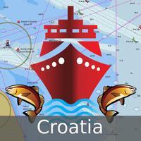 Marine Navigation - Croatia - Offline Gps Nautical Charts & River Maps for Fishing, Sailing and Boating
